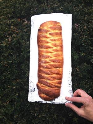braided lemon bread finished